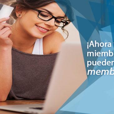 ¡Ahora puedes pagar tu membresía en línea!